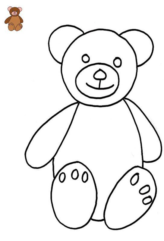 coloriage avec modle ourson