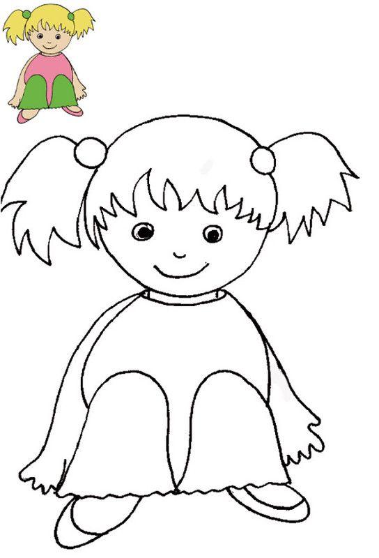 Coloriage avec modele - Coloriage pour petite fille ...